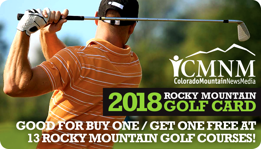 2018 Rocky Mountain Golf Card :: Good for Buy One Get One Free at 13 Rocky Mountain golf courses!
