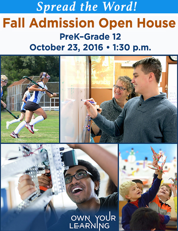 Fall Open House - October 23, 1:30 pm