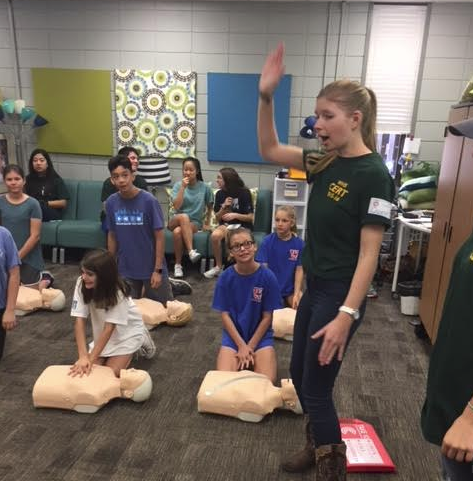 CERT students teach at FitFest