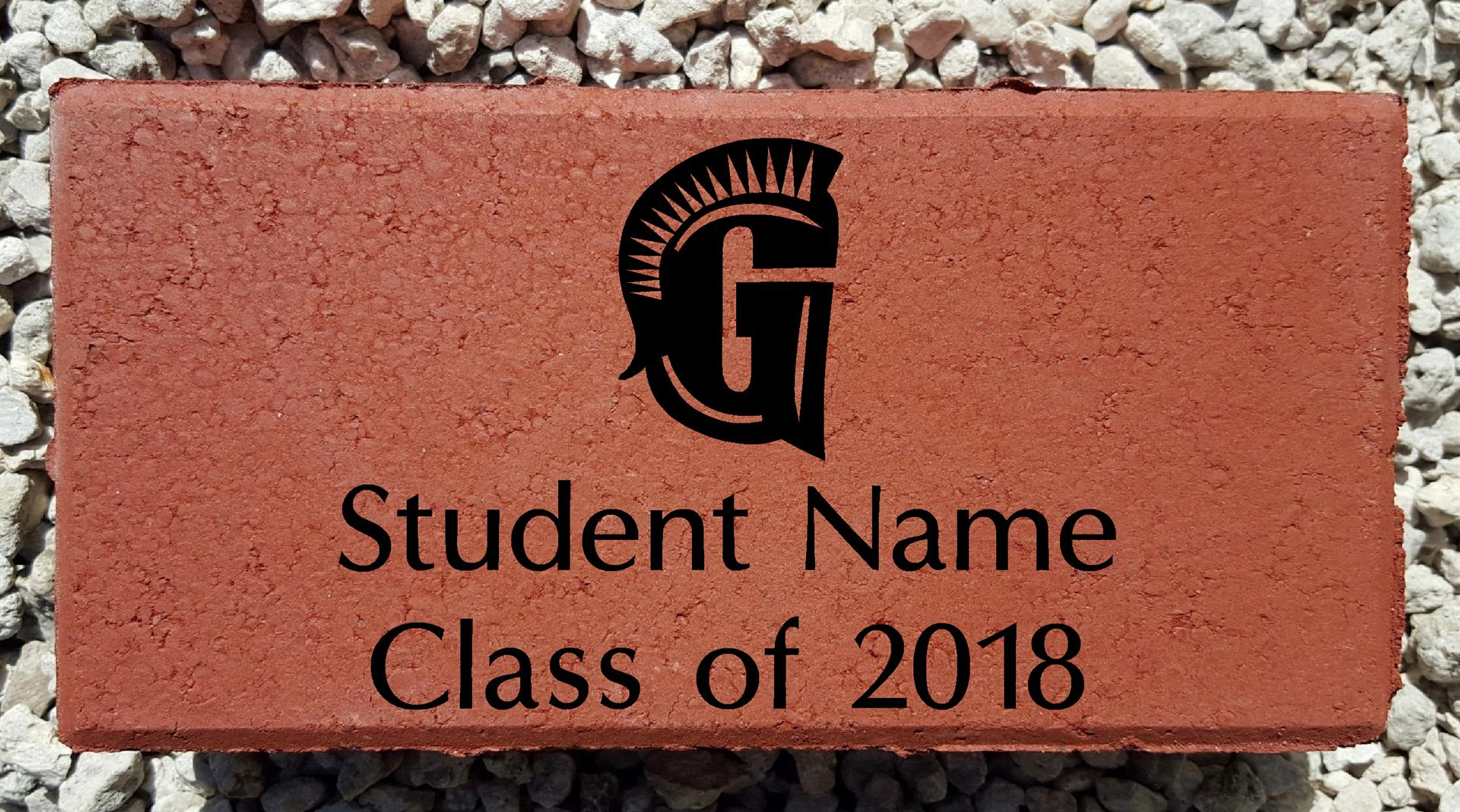 Student Name - Class of 2018 Brick