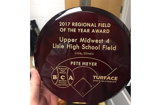 2017 Regional Field of the Year award plaque