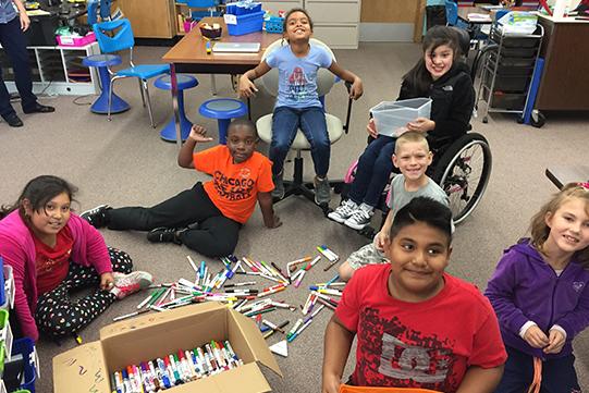 Mrs. Neustadt's class sort markers