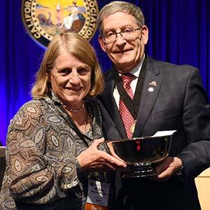 Dr. Ellen Mahoney receiving the award