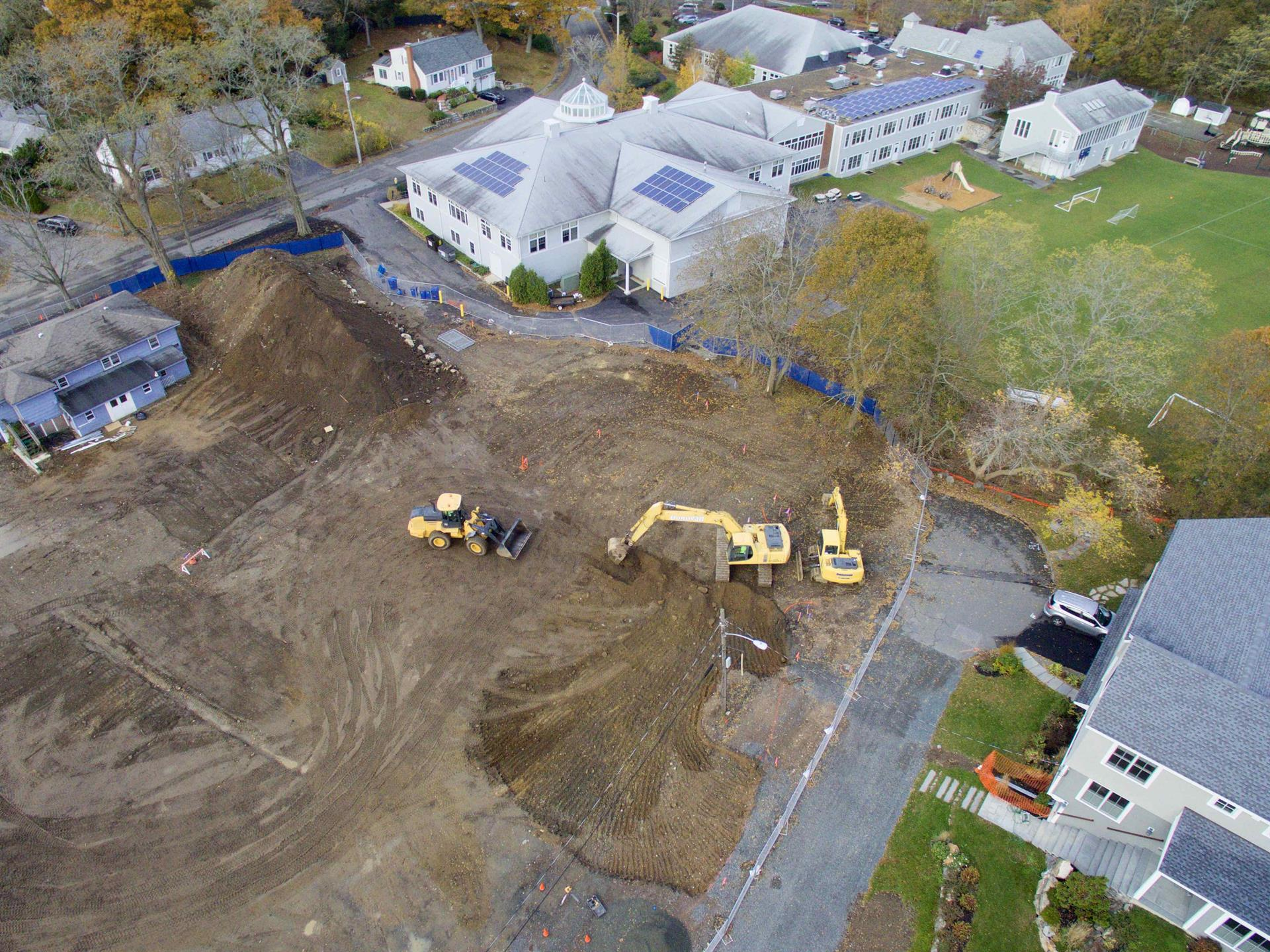 Aerial Photo of Tower Construction Site