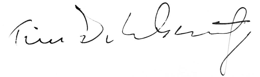 Tim Delehaunty's Signature