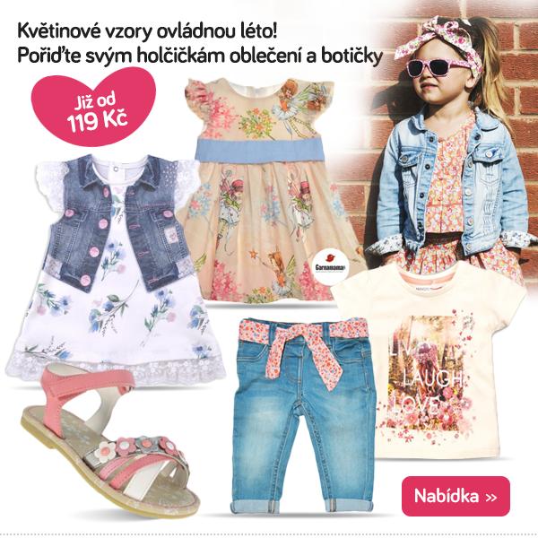 Dětské oblečení s květinovým vzorem