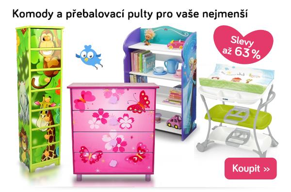 Dětské komody a přebalovací pulty