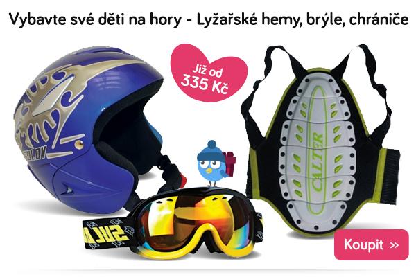 Dětské lyžařské helmy, brýle a chrániče