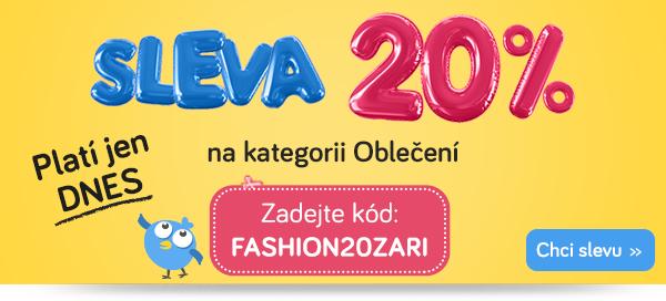 Sleva 20% na dětské oblečení