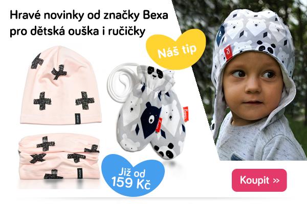 Dětské čepice a rukavice Bexa