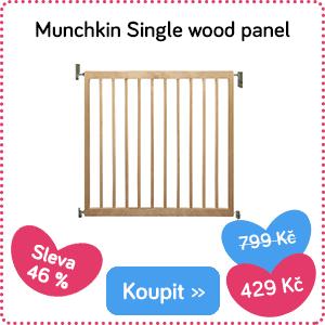 Dětská zábrana Minchkin Single Wood