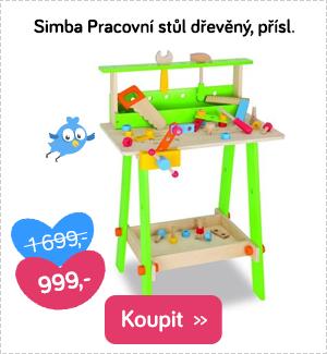 Simba dětský pracovní stůl dřevěný