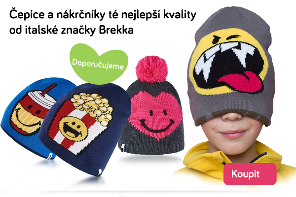 Dětské čepice a nákrčníky Brekka