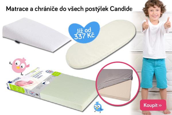 Dětské matrace a chrániče matrací Candide