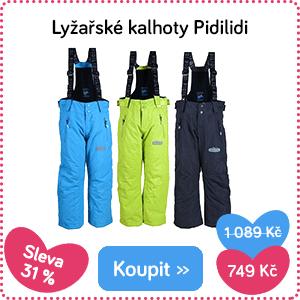 Dětské lyžařské kalhoty Pidilidi
