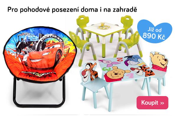 Dětské stoly a židle