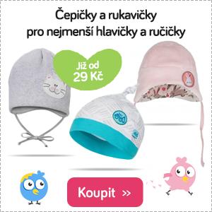 Dětské čepice a rukavice