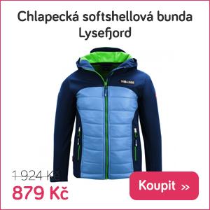 Dětská softshellová bunda Lysefjord
