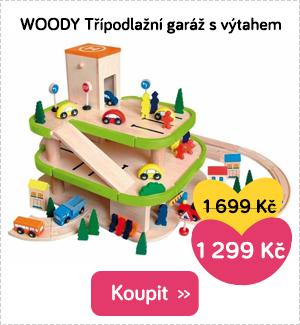 Woody garáž s výtahem