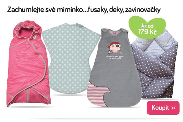 Dětské fusaky, deky a zavinovačky