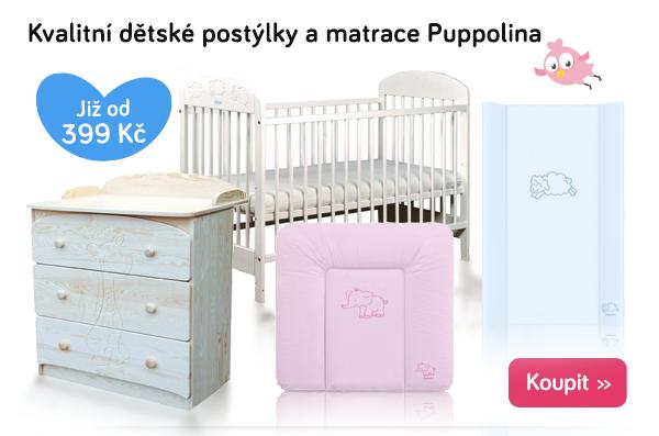 Dětské postýlky a matrace Puppolina