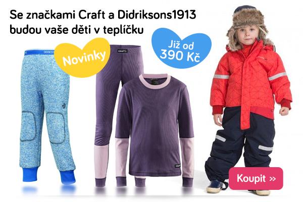 Dětské oblečení Craft a Didriksons1913