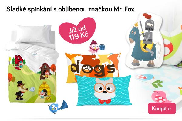 Dětské povlečení a polštářky Mr. Fox