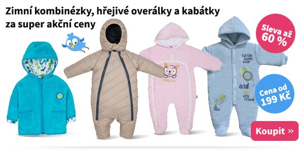 Dětské zimní overaly a kabátky