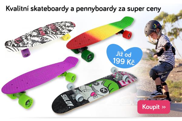 Dětské skateboardy a pennyboardy