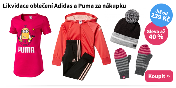 Dětské oblečení Adidas a Puma