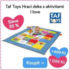 Hrací deka Taf Toys I love