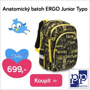 Anatomický batoh Ergo Junior Typo