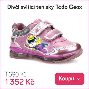 Dětské svítící tenisky Todo Geox