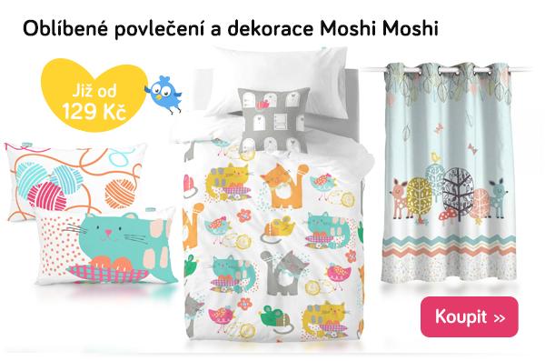 Dětské povlečení a dekorace Moshi Moshi
