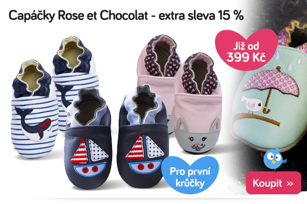 Capáčky Rose et Chocolat
