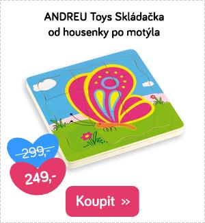 Andreu Toys puzzle od housenky po motýla