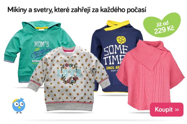 Dětské mikiny a svetry