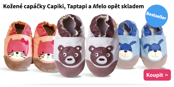 Kožené capáčky Capiki, Taptapi a Afelo