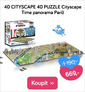 4D puzzle Cityscape Time panorama Paříž