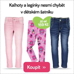 Dětské kalhoty a legíny