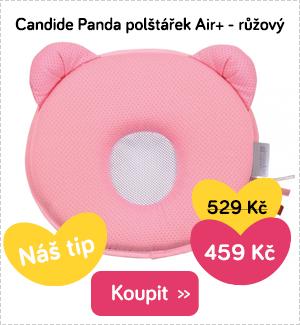 Polštářek Candide Panda růžový