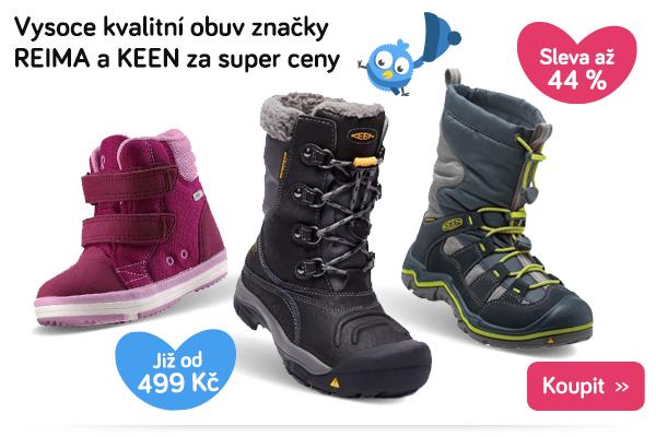 Dětské boty Reima a Keen