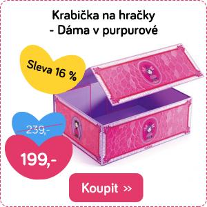 Krabička na hračky růžová