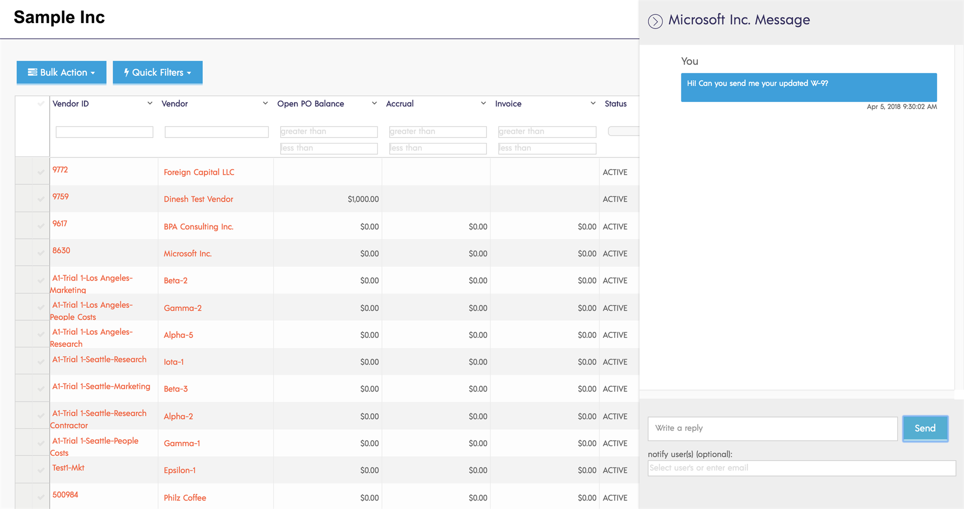 enhanced invoice items selection